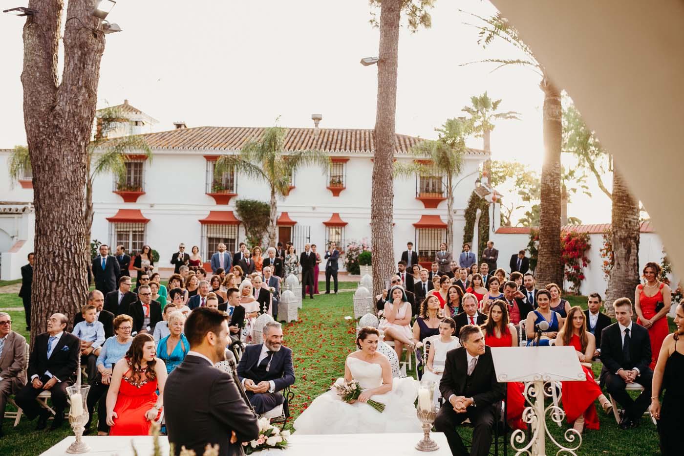 boda civil en exteriores